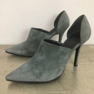 Haider Ackermann Suede Pointed Toe D'Orsay Pumps